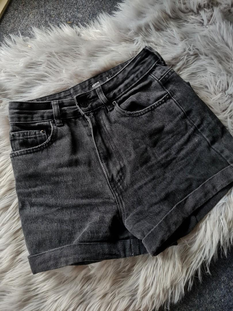 Glassons demin high-waisted shorts