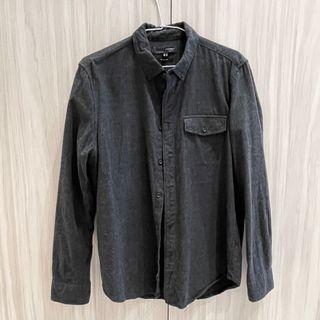 H:connect 男生純棉襯衫 灰色襯衫