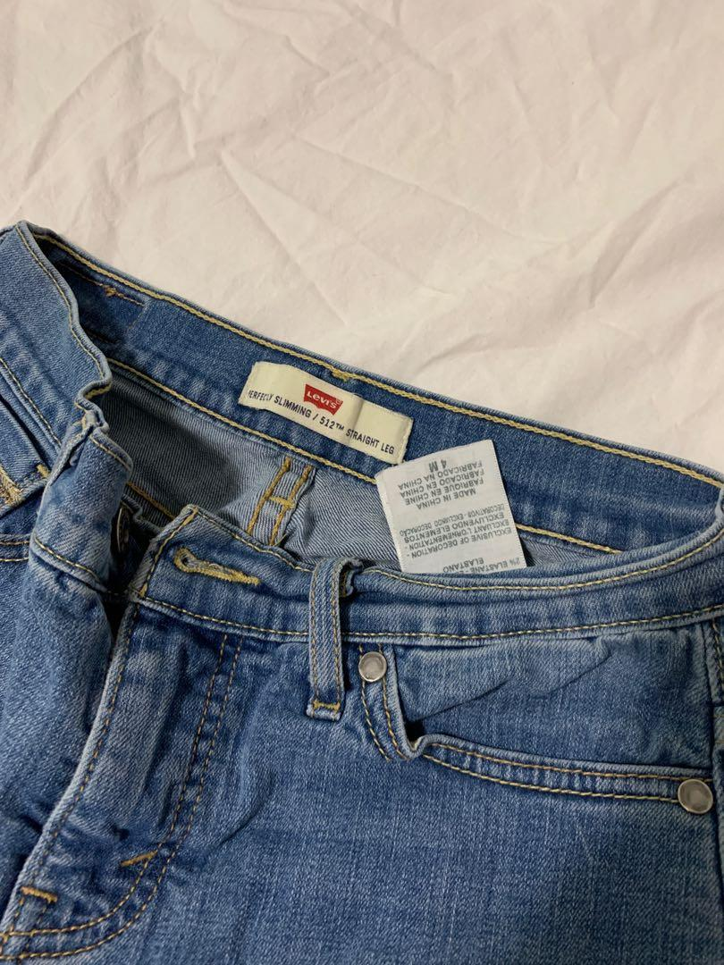 Levis vintage 512 straight leg  denim