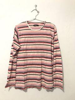 LONG SLEEVE STRIPED PINK