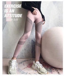 高腰收腹健身褲女彈力緊身顯瘦《L/XL》