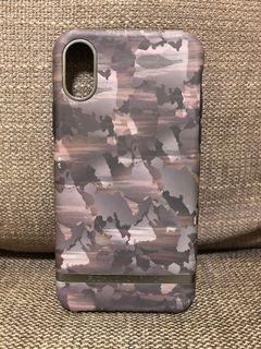 二手R&F  Richmond & Finch  瑞典品牌手機殼 啞光黑框 - 迷彩迷藏  - iPhone X