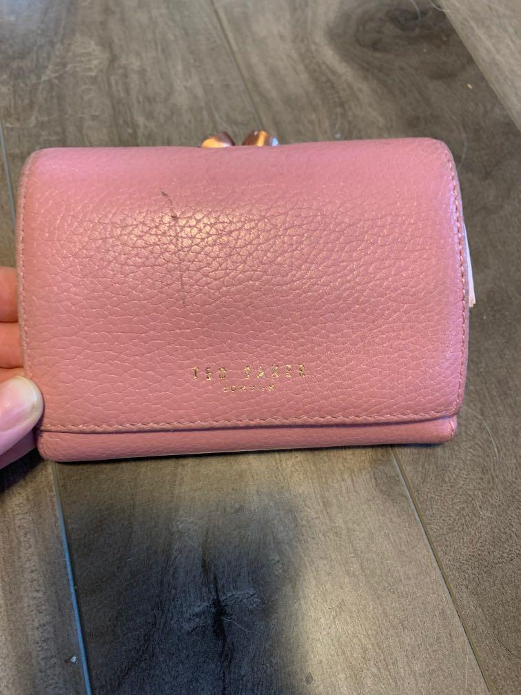 Ted Baker pink leather wallet