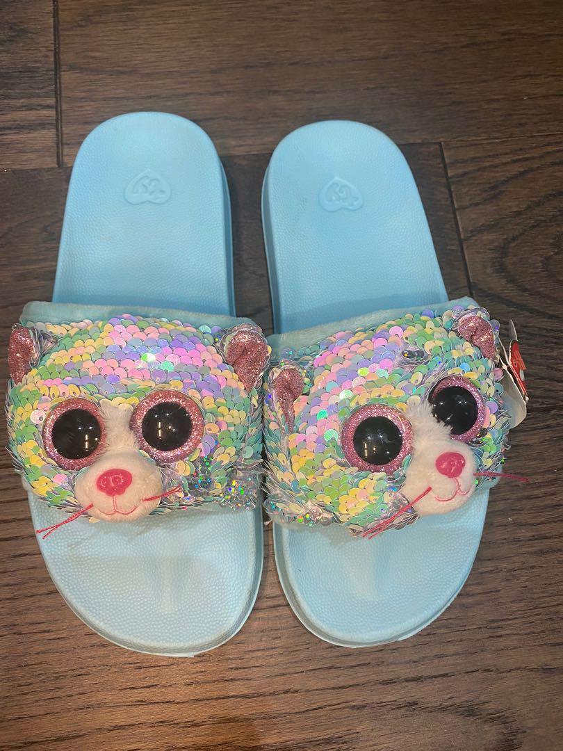 TY friends flip sequins flip flop sandals kids size 4-6
