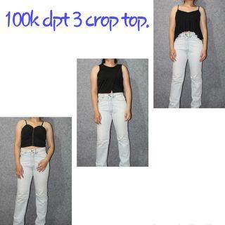 100k dpt 3 crop top cantik