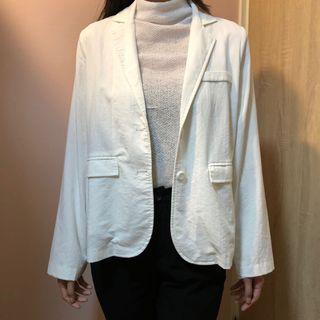 白色薄西裝外套(模特兒168/54)