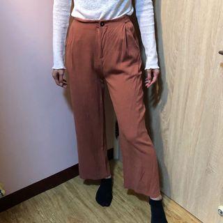 藕粉女寬褲(腰圍約34)