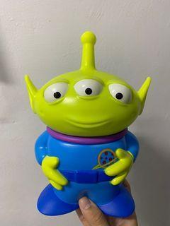 迪士尼 玩具總動員 三眼怪 公仔 玩偶 水壺 威秀 水杯 吸管杯