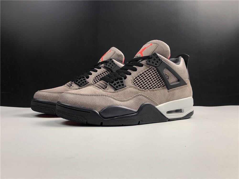 "Air Jordan 4 Retro ""Taupe Haze"" Sport Shoes In Leather  . Aj 1 3 4 5 7 11 13 14"