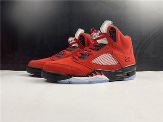 """Air Jordan 5 """"Raging Bull"""" Sport Shoes In Leather  . Aj 1 3 4 5 7 11 13 14"""