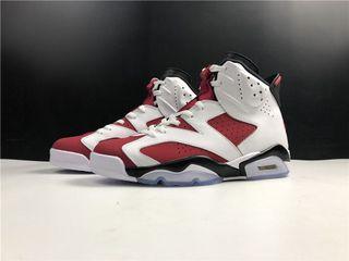 "Air Jordan 6 Retro ""Carmine"" Sport Shoes In Leather  . Aj 1 3 4 5 7 11 13 14"