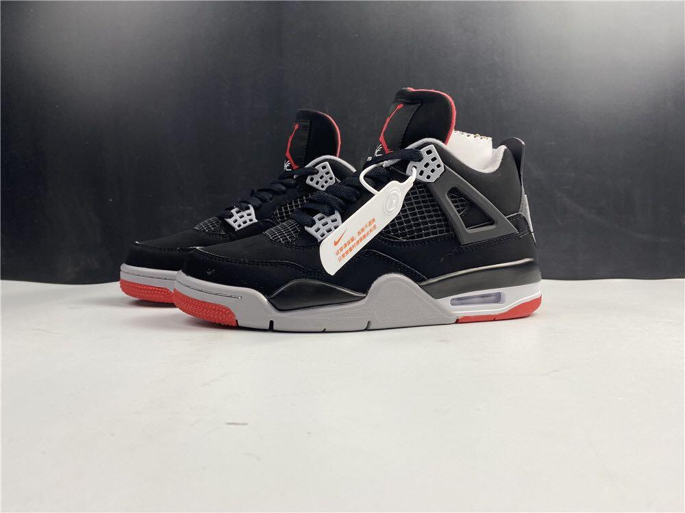 AIR JORDAN BRED 4 AJ 2019 AJ4,  Sport Shoes In Leather  . Aj 1 3 4 5 7 11 13 14
