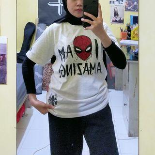 Kaos Spiderman Marvel Nevada
