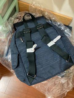 全新Kipling灰藍色雙肩後背包