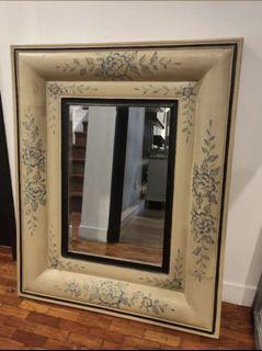 """32""""x40"""" Beveled Farmhouse French Handpainted Country Mirror"""