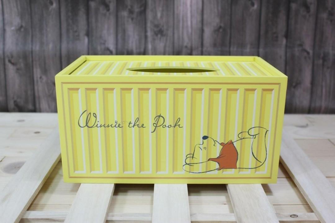 迪士尼小熊維尼貨櫃造型收納盒 面紙盒 筆筒 面紙套 居家生活 擺飾 擺件 [現貨+預購下單請詢問 限時優惠]