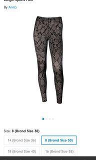 Anita black python print ankle pants/leggings