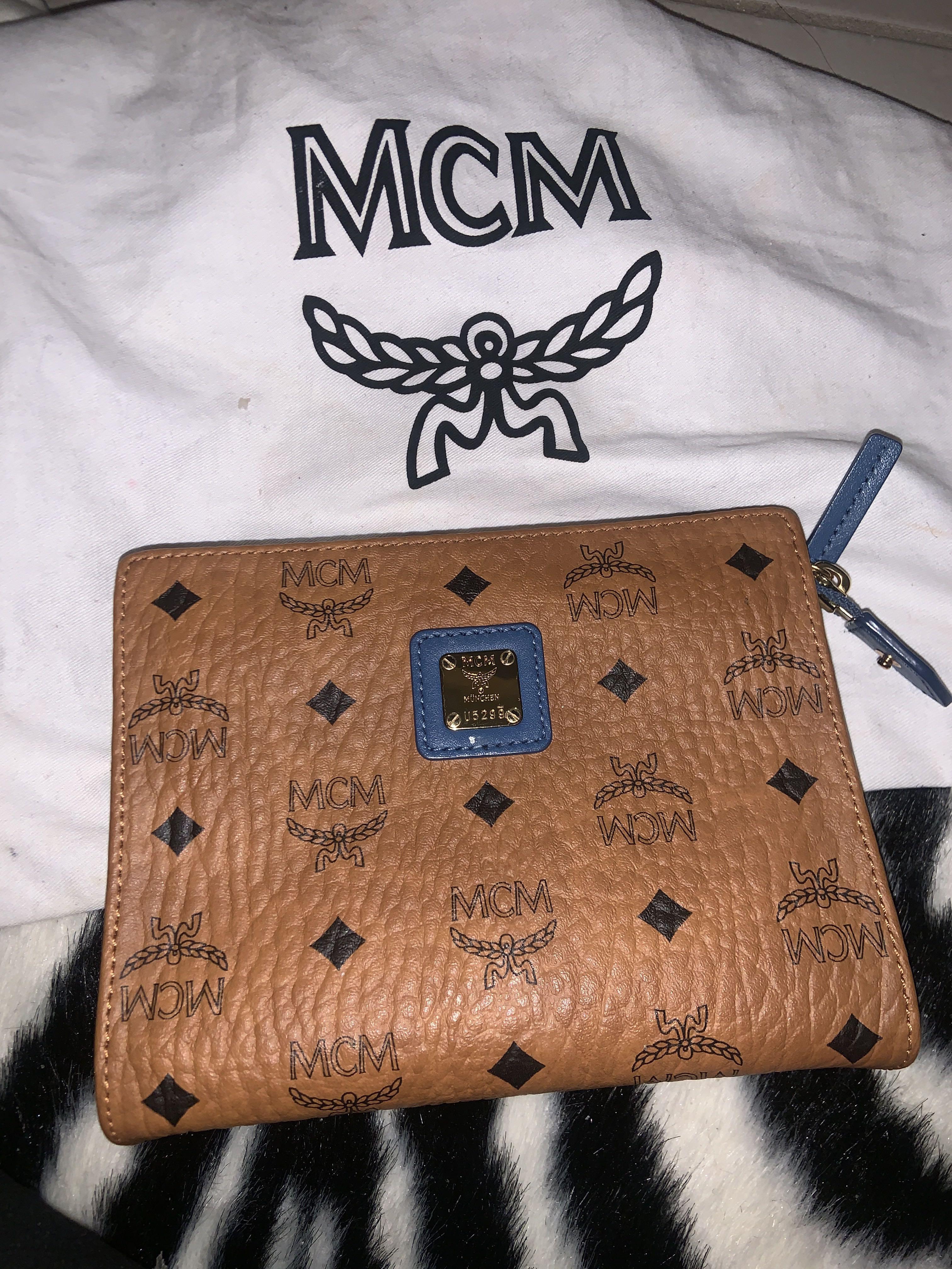 Authentic MCM clutch