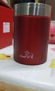 全新Calf 牛頭牌 小牛 悶燒杯 悶燒罐  紅色 304不鏽鋼 保溫杯 450ml