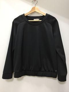 CK Calvin Klein Jeans 黑色緞面 休閒套頭長袖
