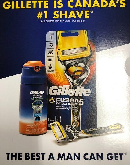 Gillette Fusion5 Prosheild Razor and Fusion Proglide Sensitive Shaving Gel Bundle