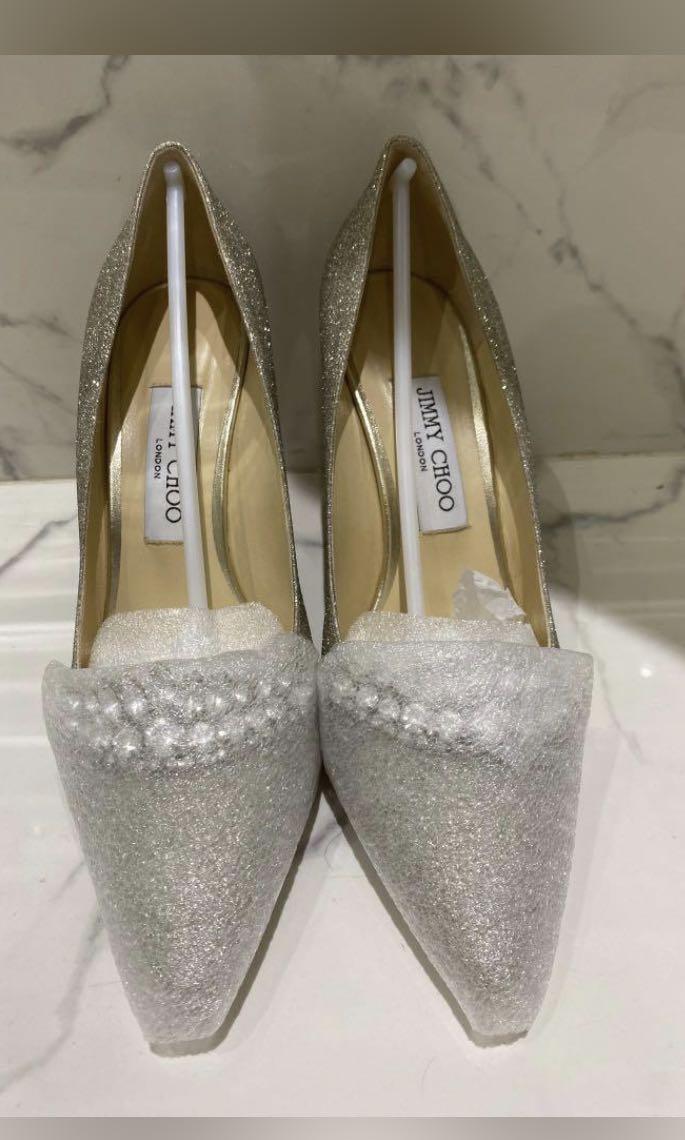 Jimmy Choo Tiara Wedding Shoe Romy Fesyen Wanita Sepatu Di Carousell