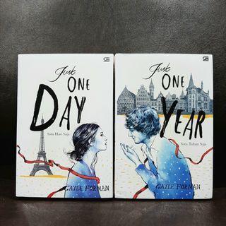 2 BUKU: Just One Day & Just One Year - Gayle Forman - novel romance ori, new, segel plastik #women2021