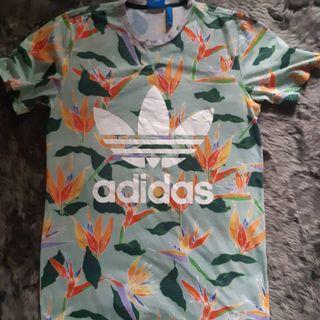 Kaos Adidas Floral Tee Firebird