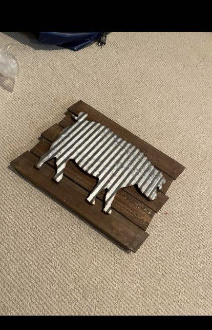 Kitchen Decor - Farm House Pig