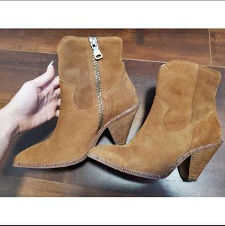 LA Chinese & Laundry Suede boots