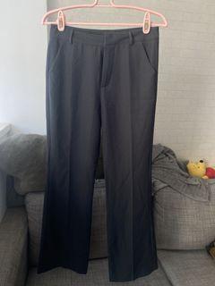 深灰西裝寬褲(M)