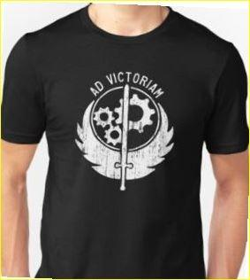 Men's Brotherhood of Steel-Ad Victoriam Classic T-Shirt (Size XL)