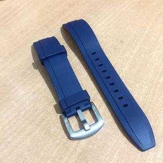 Navy blue rubber watch strap 20mm