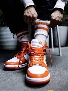 全新正品限量Nike Dunk Hi Retro  白 橘 復古 復刻經典款 高筒 休閒鞋 DD1399-101 男鞋 尺寸US9