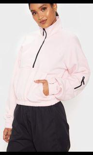 Prettylittlething baby pink zip up