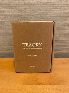 Teaory 一日茶道4 item夜間保養四件組 嫩白潔膚膠、彈力晶露、復活眼部精華、極致滋養霜 美妝保養