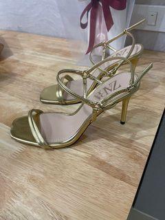 Zara Gold Starppy Heels