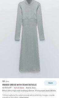 Zara Ribber Dress with Seam Details