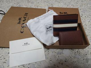 2 in 1 Coach Men's Wallet Gift Set