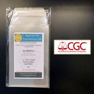 CGC 50 PCS Superior Fit Sleeves for Graded Sports & Gaming Card Holders (TCG Pokemon Yugioh MTG)