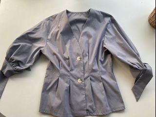 紫藍色收腰上衣