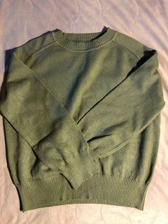 韓版草綠柔軟針織毛衣