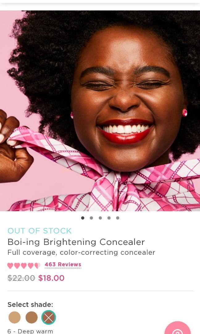 🌸Boi-ing Brightening Concealer Full coverage, color-correcting concealer NO.  6