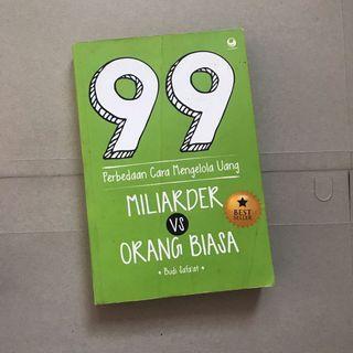 Buku 99 Perbedaan Miliarder dengan Orang Biasa