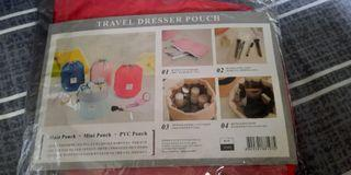 🔥FIXED PRICE 🔥TRAVEL DRESSER RED POUCH