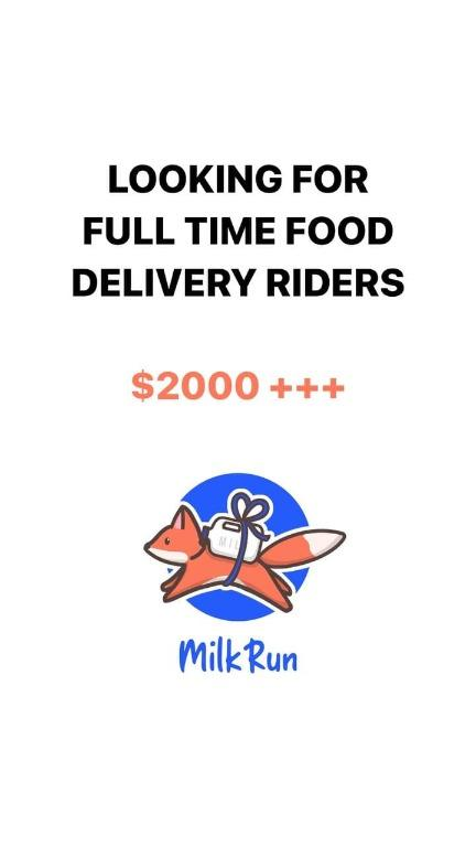 Hire for delivery rider