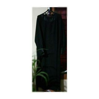Gamis hitam jetblack abaya by Sahila Indonesia. Freeong Jabodetabek