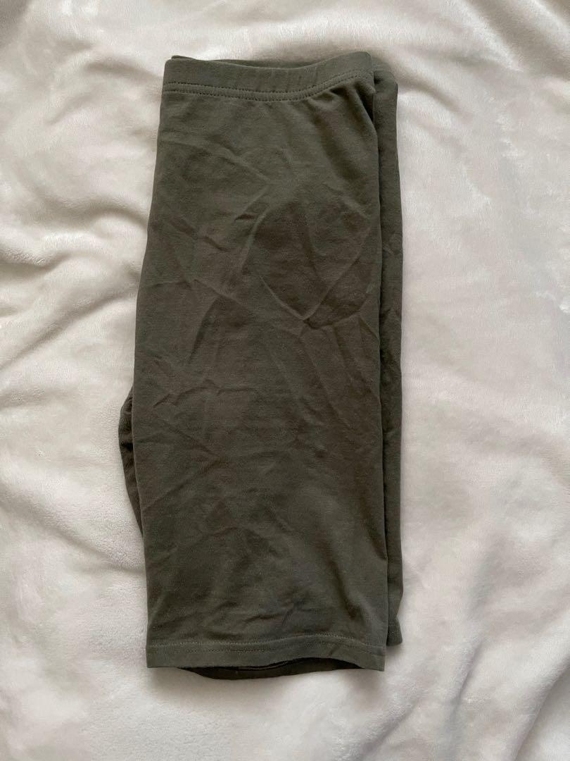 H&M green biker shorts