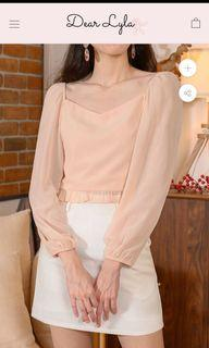 To Bless: Luna Two Way Puff Sleeve Top DearLyla (Pale Peach)