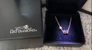 Mabelle 18k玫瑰金 Leo Diamond 7份鑽石 手鍊
